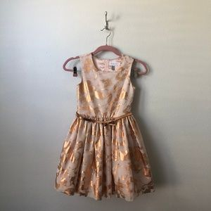 Children's Place Gold Holiday Dress 12